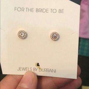 Jewelry - Durrani diamond halo earrings